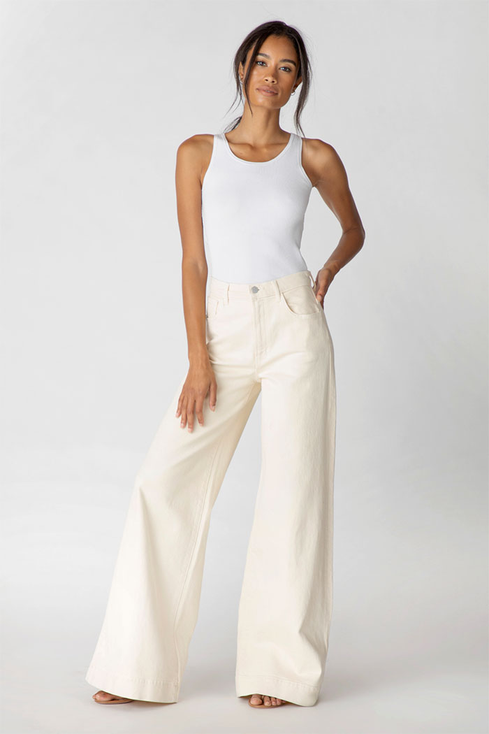 J Brand Thelma High-Rise Super Wide Leg Jeans In Amaya