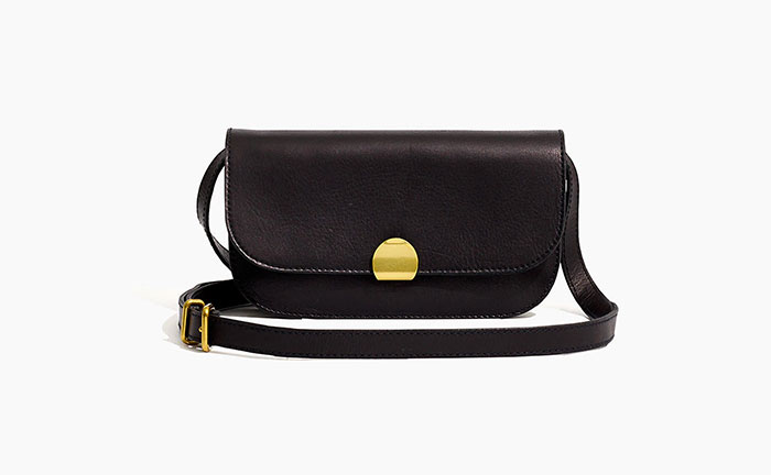 Madewell Abroad Convertible Crossbody in Leather