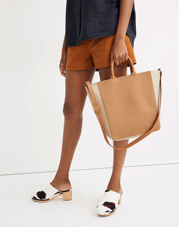 Madewell Abroad Colorblock Tote Bag