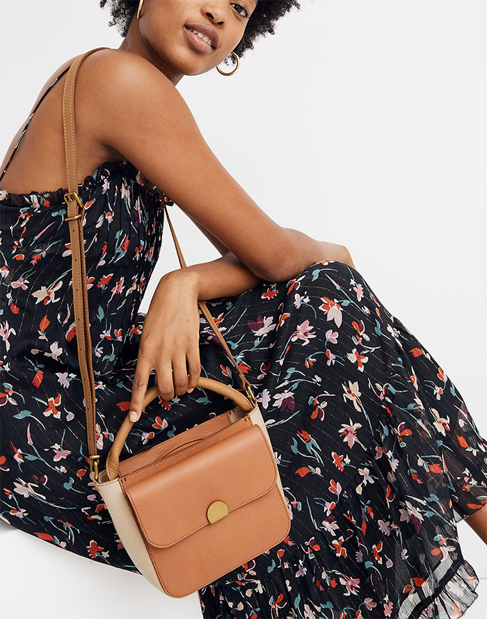 Madewell Abroad Colorblock Mini Shoulder Bag