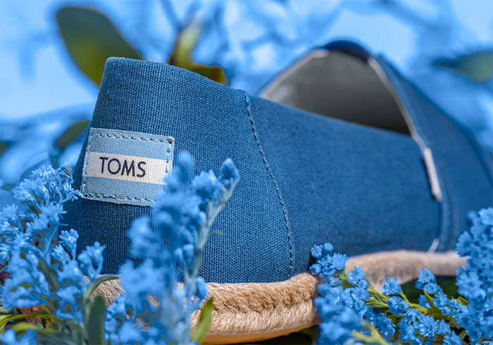 TOMS earthwise™ Eco Friendly Footwear - Plant Dye Indigo Canvas Women's Espadrilles