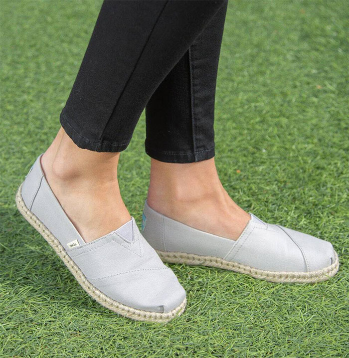 TOMS earthwise™ Plant Dye Grey Canvas Women's Espadrilles
