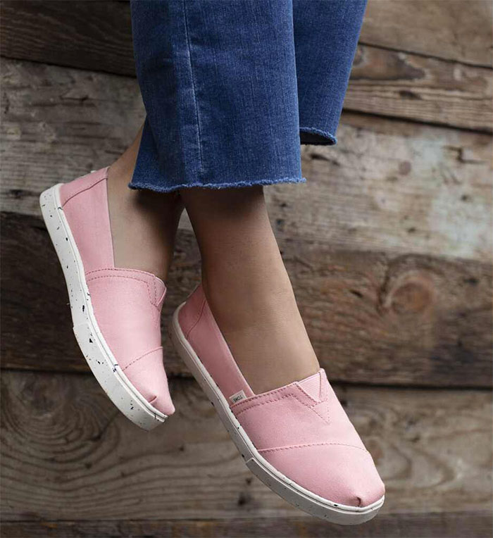TOMS earthwise™ Plant Dye Pink Canvas Women's Cupsole Alpargatas Venice Collection