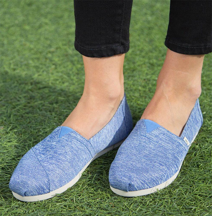 TOMS earthwise™ Vallarta Blue REPREVE Melange Knit Women's Classics ft. Ortholite
