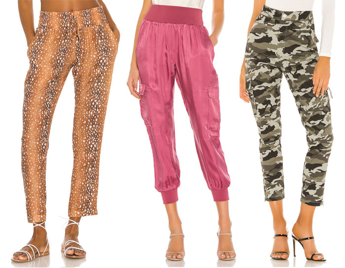 Comfortable and Stylish Joggers for Working at Home - fun prints and satin