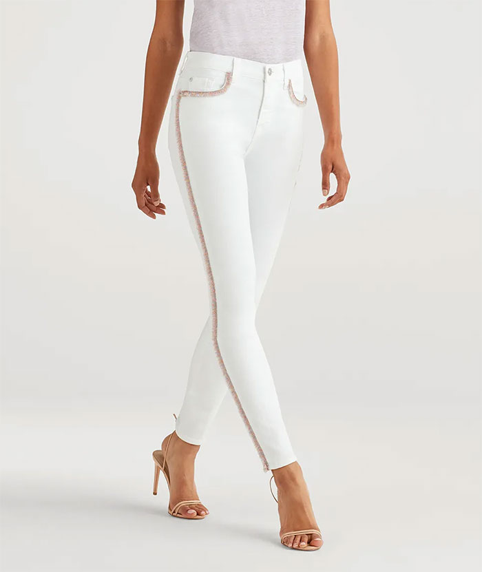 7 For All Mankind - High Waist Skinny with Rainbow Fringe