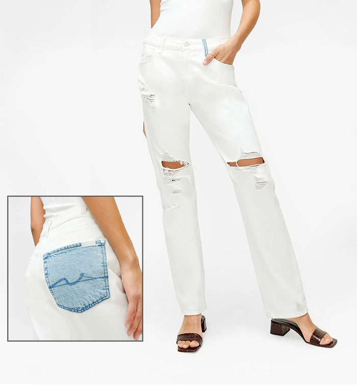 7 For All Mankind - Low Straight with Contrast Pocket