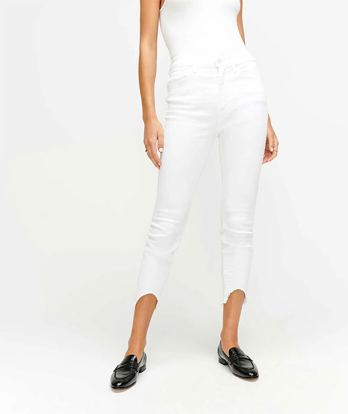 7 For All Mankind - Skinny with Wave Hem
