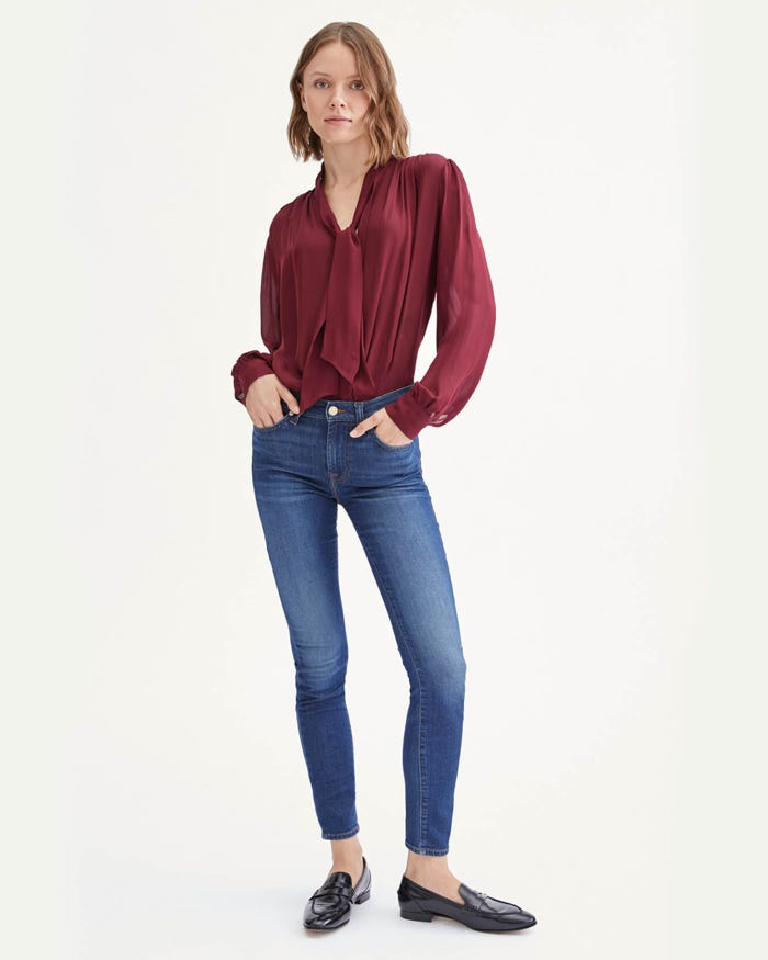 7 For All Mankind b(air) Silk - Skinny in Catalina