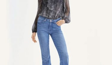 7 For All Mankind b(air) Silk - Kimmie Bootcut in Perry