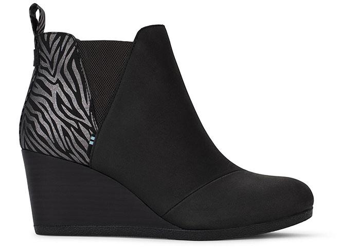 TOMS Kelsey Boot in Black Zebra