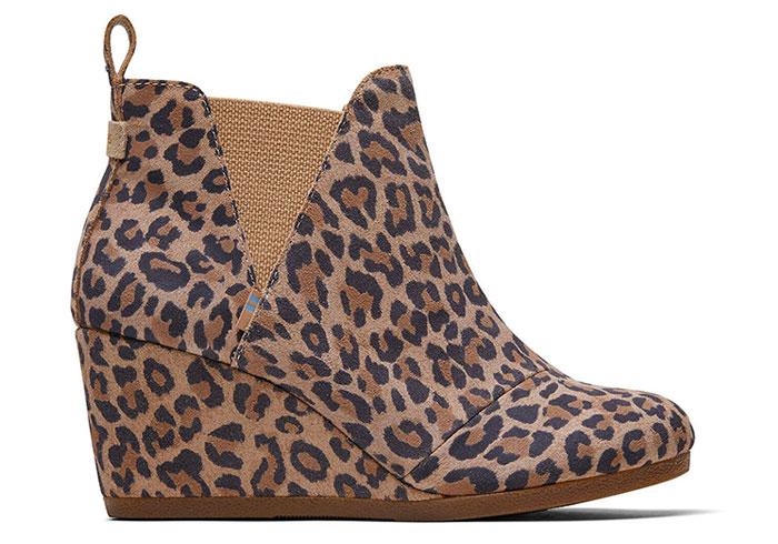 TOMS Kelsea Boot in Desert Tan Leopard