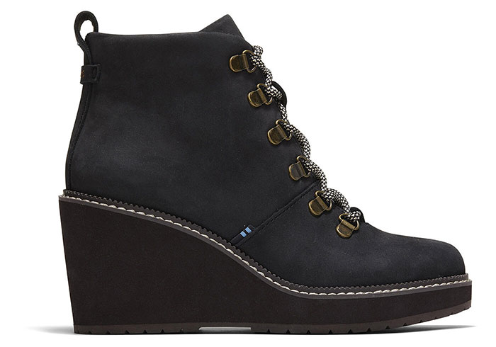 winter boots - TOMS Melrose Boot in Water Resistant Black