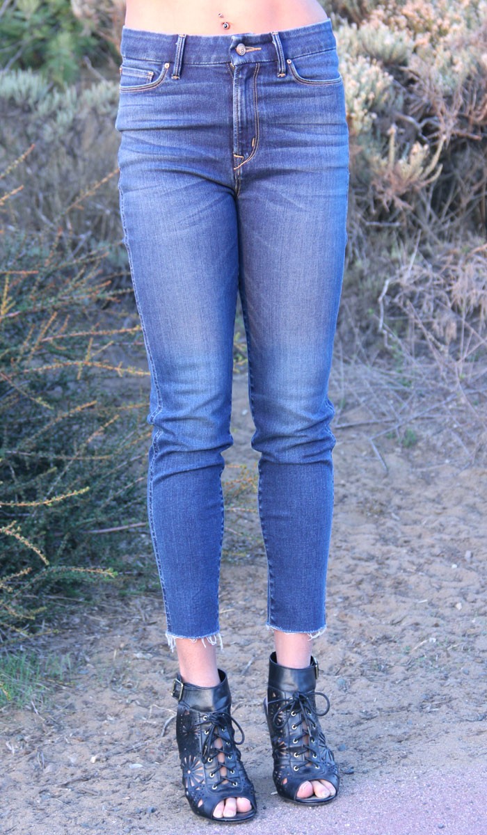 Porter Blue Apparel - Heart Breaker Skinny Jeans - Closeup Front View