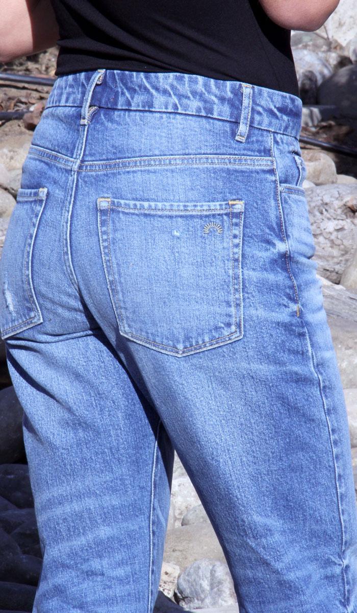 Porter Blue Apparel – Rebel Straight Jeans - Back Pocket Closeup