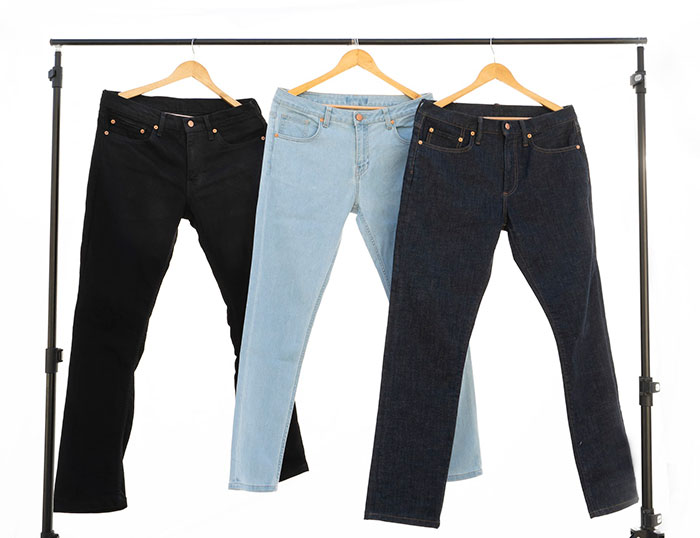 Hemp Denim Kickstarter Campaign from SLOW Jeans by Canvaloop - Jeans on Hanger