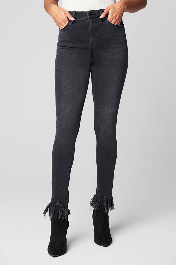 BLANKNYC - Great Jones High Rise Frayed Hem Skinny Jeans