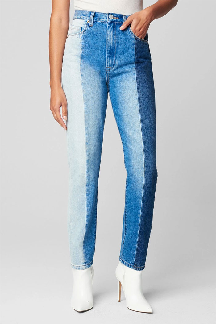 BLANKNYC - Patchwork Ultra High Rise Skinny Jeans