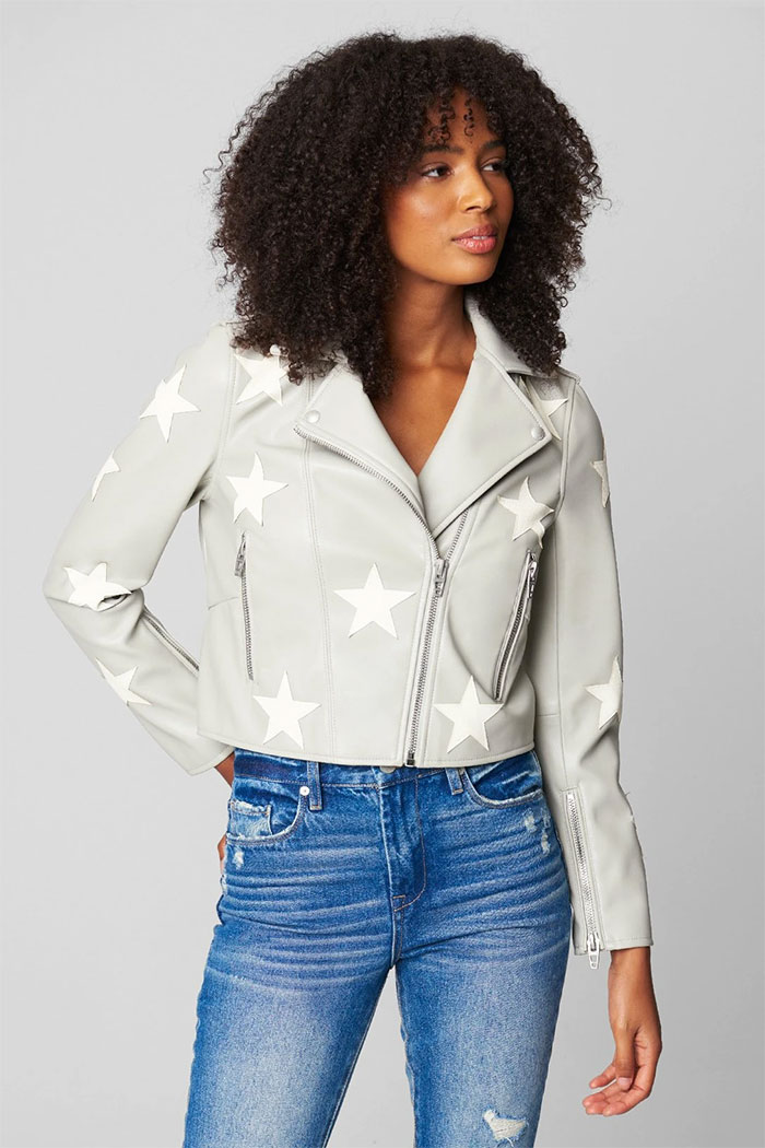 New Wardrobe Game Changers from BLANKNYC - Star Patch Moto Jacket