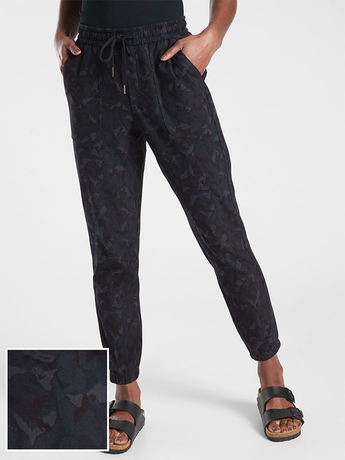 Cozy Joggers for Moving or Lounging in Style from Athleta - Farallons Stratum Camo Jogger
