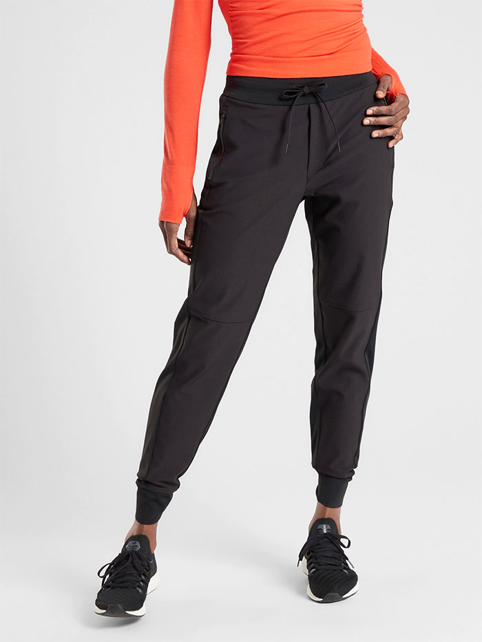 Cozy Joggers for Moving or Lounging in Style from Athleta - Headlands Hybrid Tech Jogger
