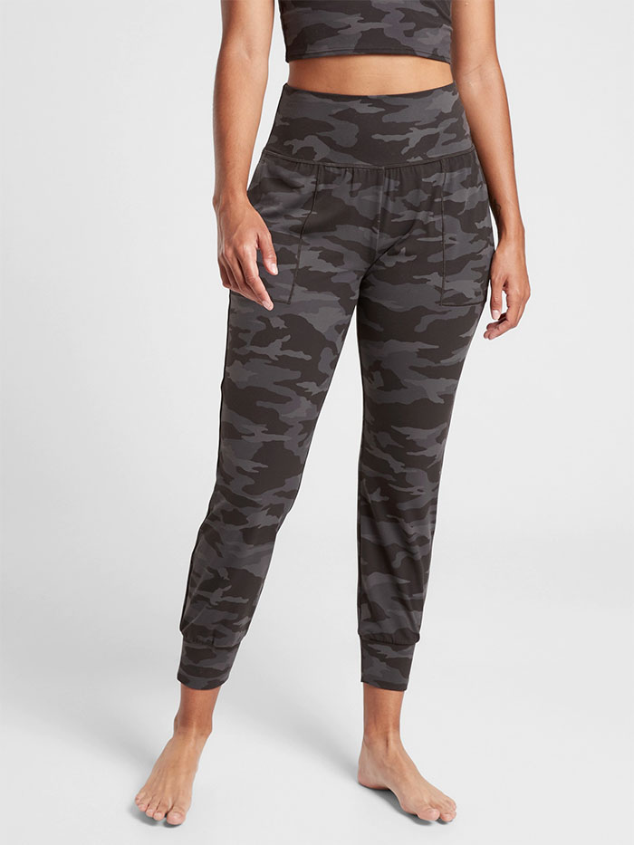 Cozy Joggers for Moving or Lounging in Style from Athleta - Salutation Camo Jogger