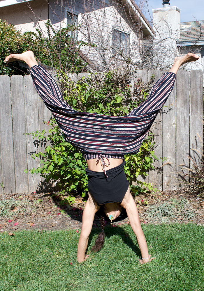 Organic Cotton Premium Harem Pants to Travel, Lounge or Move in by Buddha Pants® - Handstand