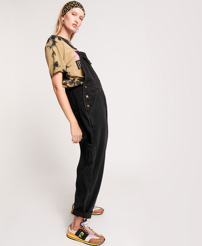 Edgy Street Style Looks from One Teaspoon - Worn Black Stanton Overalls