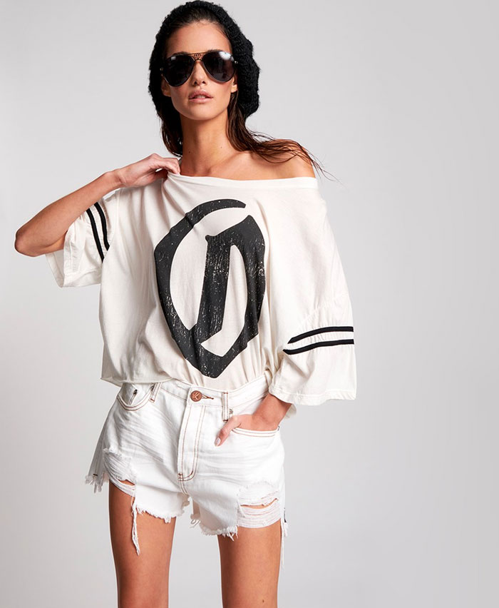 Edgy Street Style Looks from One Teaspoon - White Beauty Truckers Shorts