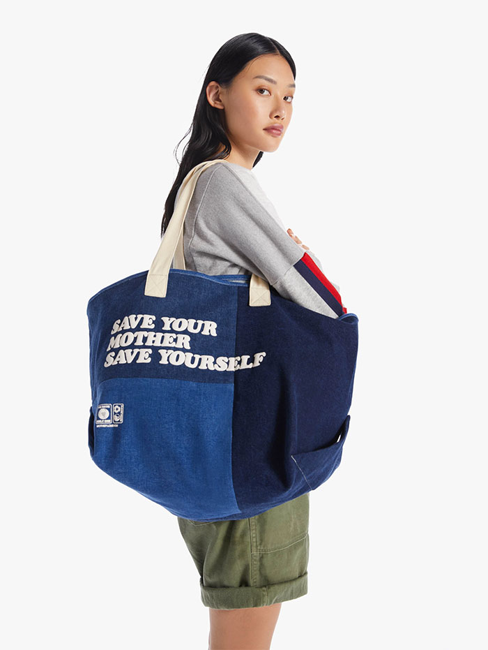 Recycled Denim Capsule Collection by MOTHER - The Money Bags