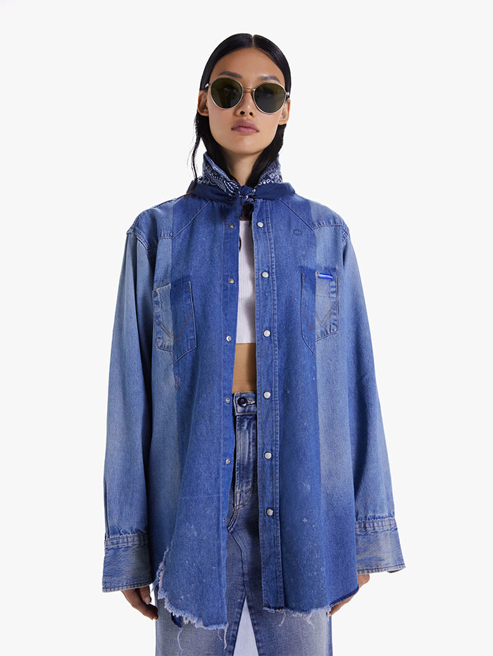 60% MOTHER Recycled Denim Capsule Collection by MOTHER - The Seamed Western Shirt