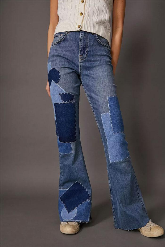 BDG Patchwork Flare Jean
