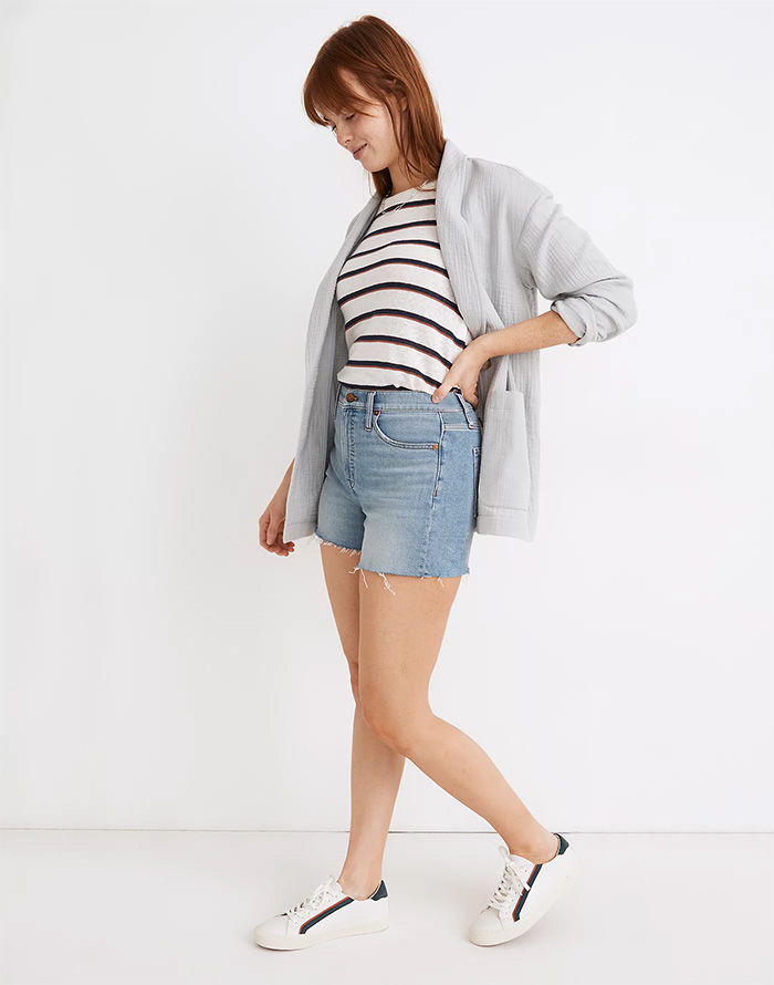 Madewell Introduces Lightweight Summer Denim Made with Hemp - Curve High Rise Short in Watt