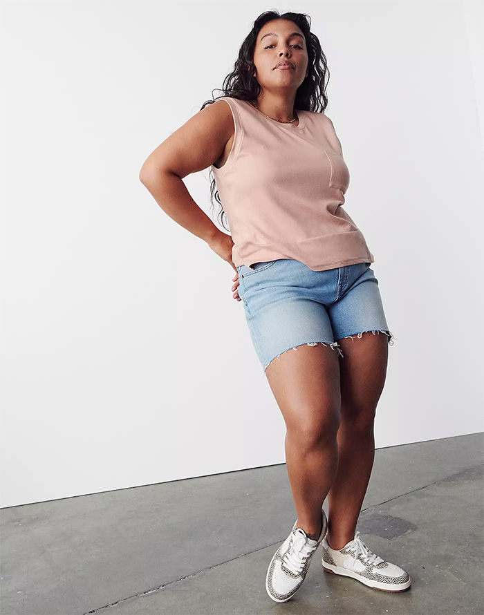 Madewell Introduces Lightweight Summer Denim Made with Hemp - High Rise Short in Watt