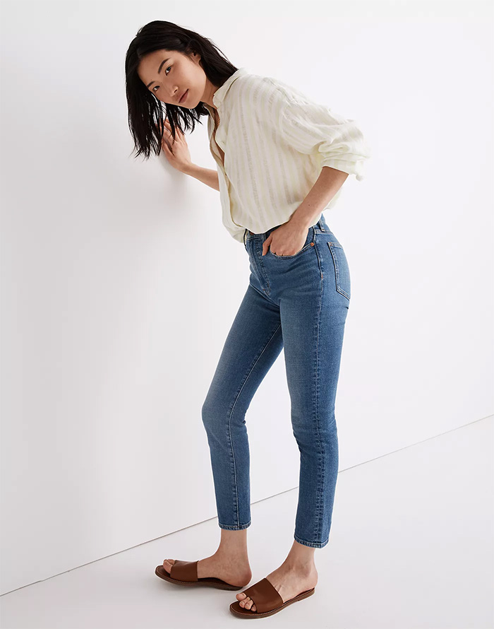 Madewell Introduces Lightweight Summer Denim Made with Hemp - Perfect Vintage Crop Jean in Sanford